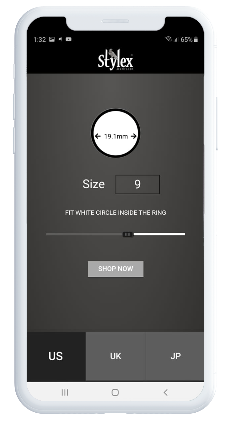 Stylex Ring Sizer Mobile App